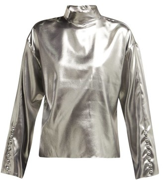 Hillier Bartley Dropped Shoulders Silk Top - Womens - Silver