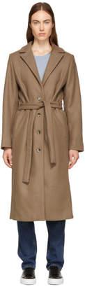 Won Hundred Brown Marina Belted Coat