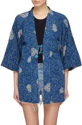 Elizabeth and James 'Penny' graphic print vintage kimono jacket