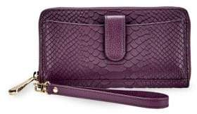 GiGi New York City Phone Python Leather Wallet
