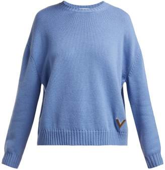 Valentino Cashmere Sweater - Womens - Light Blue