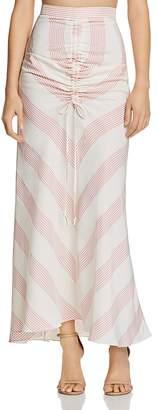Paper London Islamorada Gingham Maxi Skirt