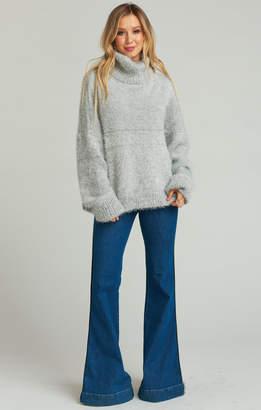 Show Me Your Mumu Fatima Turtleneck Sweater ~ Fuzzy Vail Knit
