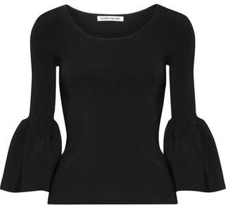 Elizabeth and James - Willow Ribbed-knit Top - Black $295 thestylecure.com