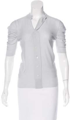 Dolce & Gabbana Virgin Wool Short Sleeve Cardigan