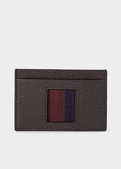 Paul Smith Men's Black 'City Webbing' Leather Credit Card Holder