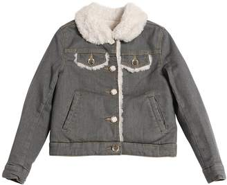 Little Marc Jacobs Denim Jacket With Faux Shearling