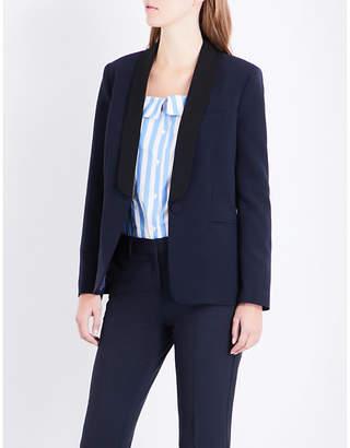 Claudie Pierlot Volupte contrast-lapel woven jacket