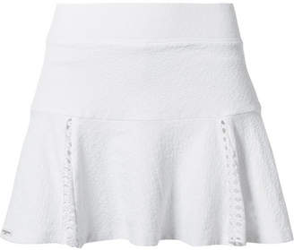 L'Etoile Sport - Pointelle-trimmed Stretch-jacquard Tennis Skirt - White