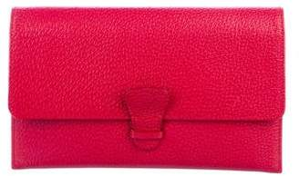 Aspinal of London Grained Leather Flap Clutch