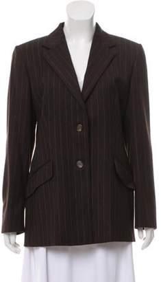 Aquascutum London Wool Pinstripe Blazer brown Wool Pinstripe Blazer