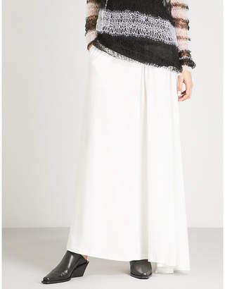 Ann Demeulemeester Side-split cotton-jersey maxi skirt