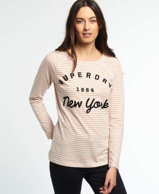 Superdry Applique Raglan Stripe T-shirt