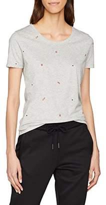 BOSS Women's Teallover T-Shirt, (Silver 040), Large