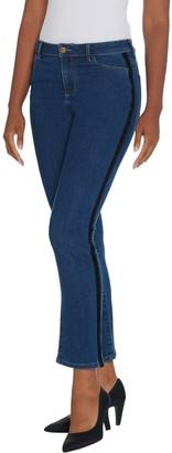 Logo By Lori Goldstein LOGO by Lori Goldstein Straight Leg Jean with Tuxedo Stripe