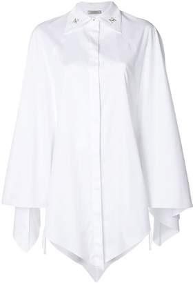Nina Ricci monogram collar trapeze shirt