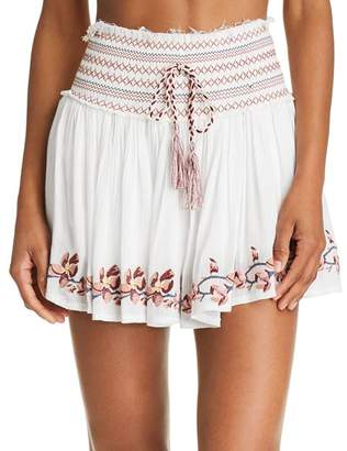 Surf.Gypsy Embroidered Mini Skirt Swim Cover-Up