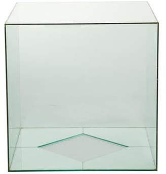 clear Vintage Glass Cube Accent Table Vintage Glass Cube Accent Table