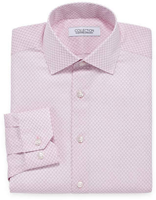 COLLECTION Collection by Michael Strahan Wrinkle Free Cotton Stretch Big And Tall Long Sleeve Woven Dress Shirt