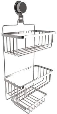 At Walmart.com · Lavish Home Wall Mounted 3 Tier Shower Caddy  Hanging  Shower Storage Rack For Bathroom Space