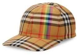 Burberry Rainbow Tartan Baseball Cap
