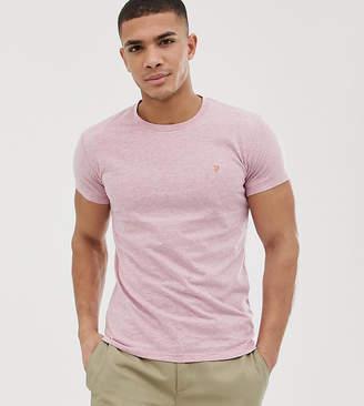 Farah Gloor slim fit marl t-shirt in pink Exclusive at ASOS