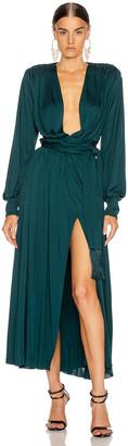 Oscar de la Renta Day Dress in Spruce | FWRD