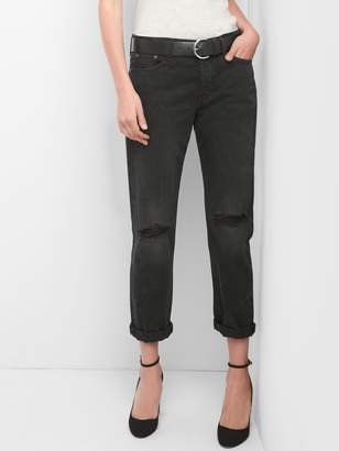 Gap Mid Rise Relaxed Boyfriend Jeans with Destruction
