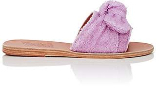 Ancient Greek Sandals Women's Taygete Bow Terry Slide Sandals - Lilac