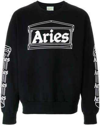 Aries logo print sweatshirt