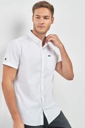 Next Mens Superdry White Short Sleeve Oxford Shirt