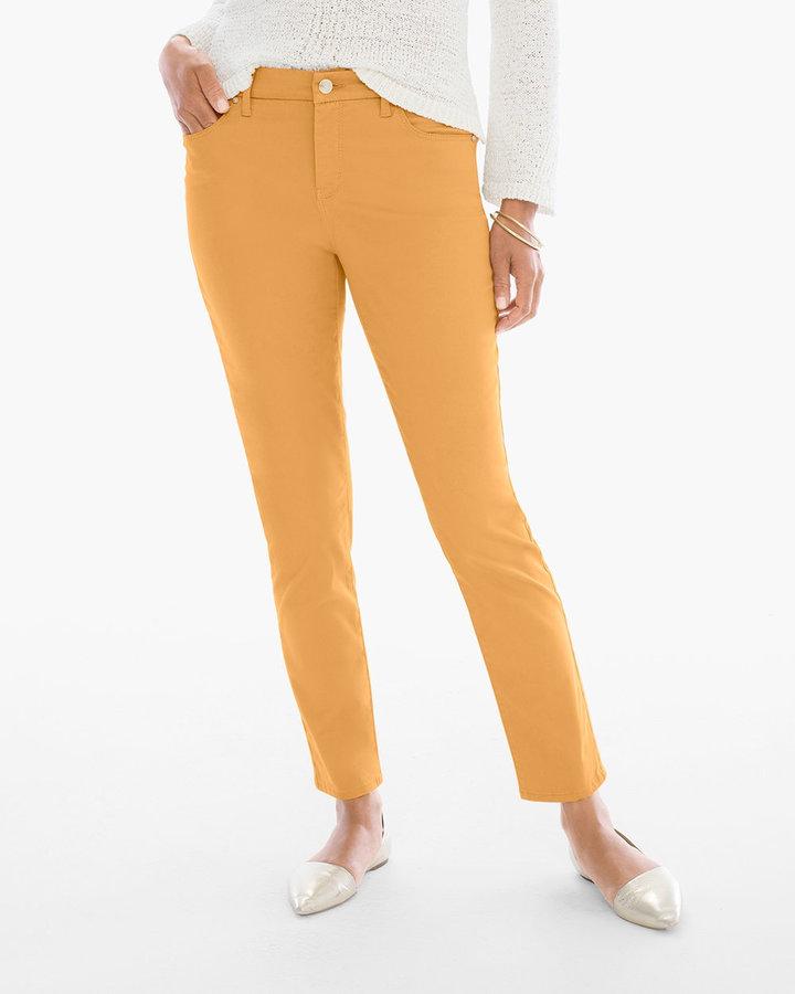 Chico'sSateen Girlfriend Ankle Jeans in Golden Ochre