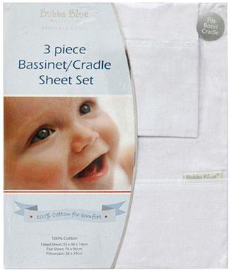 Bubba Blue Everyday Basic Bassinet Sheet Set