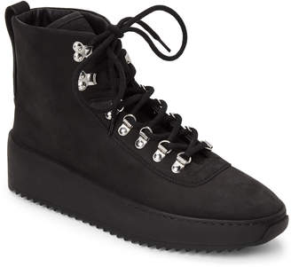 Fear Of God Black Hiking Leather Mid-Top Sneakers