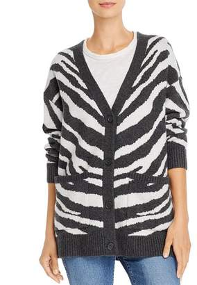 French Connection Tomasa Animal-Print Cardigan