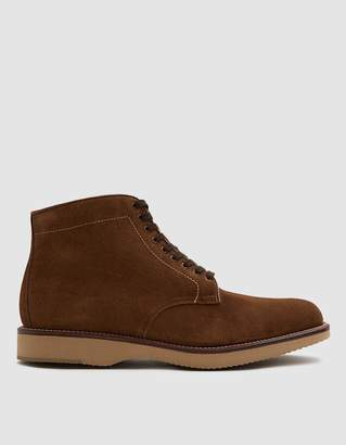 Alden Davis Plain Toe Boot in Snuff Suede