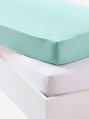 Vertbaudet Baby Pack of 2 Fitted Sheets in Stretch Jersey Knit