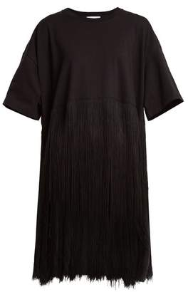 Raey Fringed cotton-jersey dress