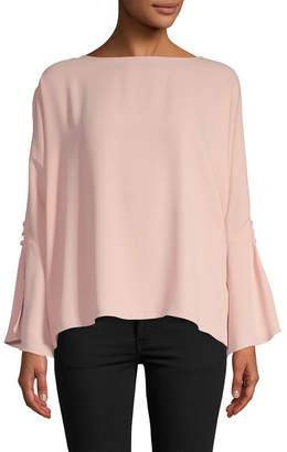 Jay Godfrey Cut-Out Bell Sleeve Top