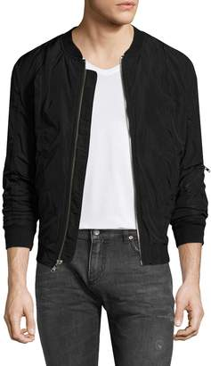 BLK DNM Men's Solid Zip Jacket