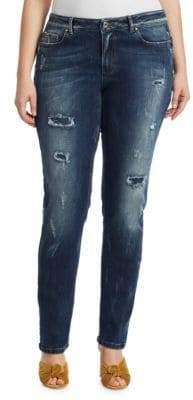 Marina Rinaldi Marina Rinaldi, Plus Size Distressed Jeans