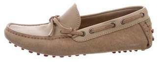 Brunello Cucinelli Leather & Suede Driving Moccasins