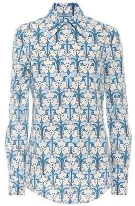 Prada Floral-printed cotton shirt