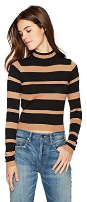Cynthia Rowley Women's Striped Cashmere T Neck
