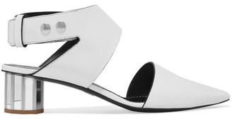 Proenza Schouler - Cutout Leather Pumps - White $895 thestylecure.com