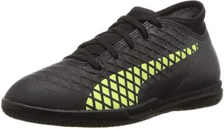 Puma Unisex-Kids Future 18.4 TT Soccer Shoe, Black-Fizzy Yellow-Asphalt