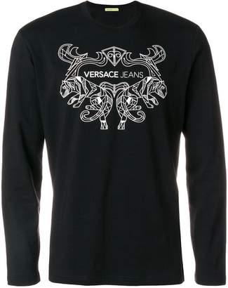 Versace logo printed sweatshirt
