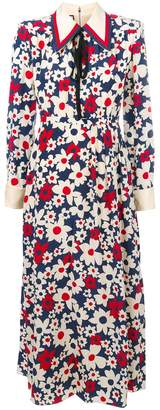 Gucci Sylvie Web trim floral dress