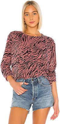 Sundry Zebra Crop Blouson Sweatshirt