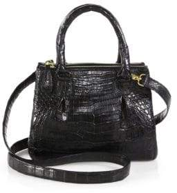Nancy Gonzalez Crocodile Mini Pliss& #233 Crossbody Bag